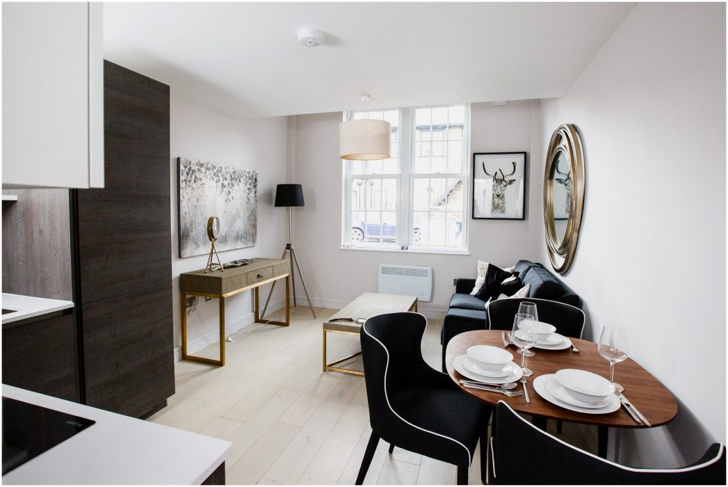 Interiors of one and two bedroom apartments, London