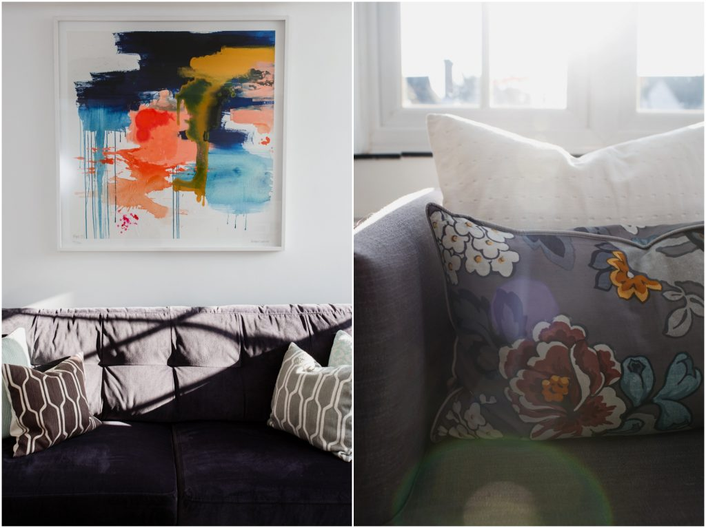 cushion details -Surrey Interior Photography