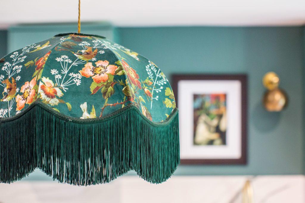 stunning green lampshade
